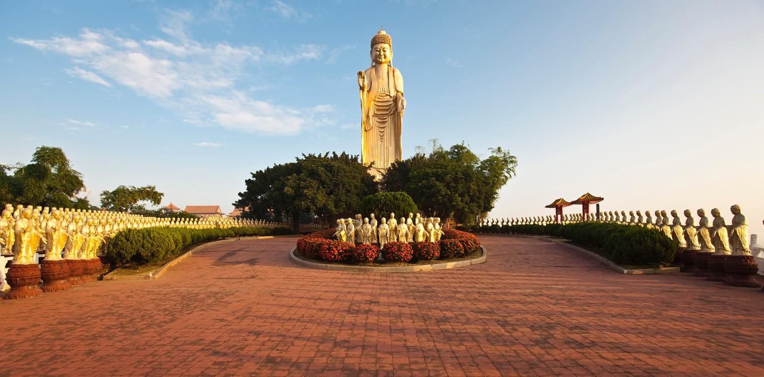 Le monastère de Fo Guang Shan près de Kaohsiung