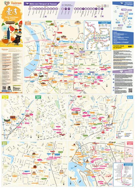 Carte Touristique de Taiwan